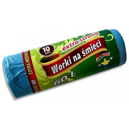 Worki na śmieci Extra Strong 60l A10 Niebieskie 5475 P Pakuś