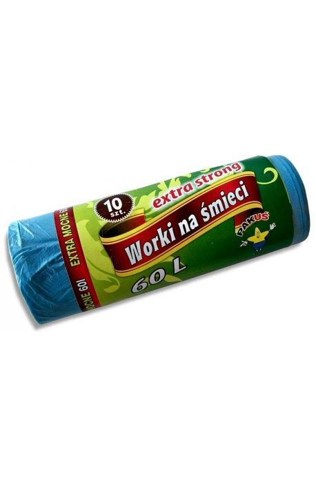 Worki na śmieci - Worki na śmieci Extra Strong 60l A10 Niebieskie 5475 P Pakuś -