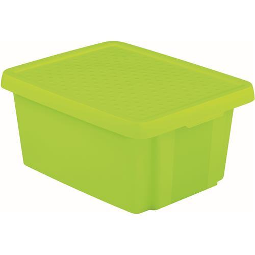 Pojemnik Essentials 16l Z Pokrywą Zielony 225386 Curver