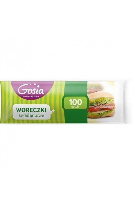 Folie, worki, papiery spożywcze - Woreczki Śniadaniowe 100szt 4727  Gosia -