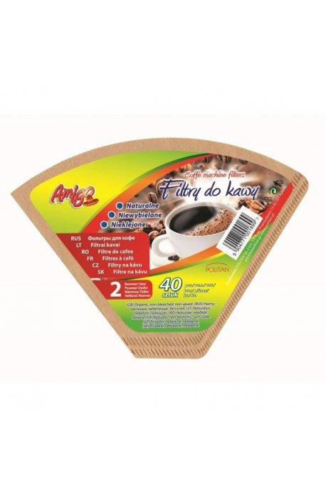 Filtry i zaparzacze do kawy - Filtr Do Kawy Rozmiar 2 40szt 3544 Gosia Amigo  -