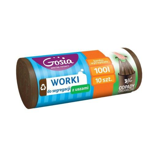 Worki Do Segregacji 100l Brązowe A10 4416 Z Uszami Na Odpady Organiczne Gosia