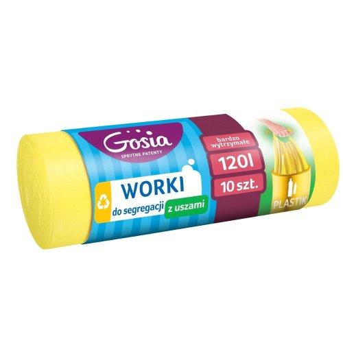 Worki Do Segregacji 120l Żółte A10 4414 Z Uszami Do Plastiku  Gosia