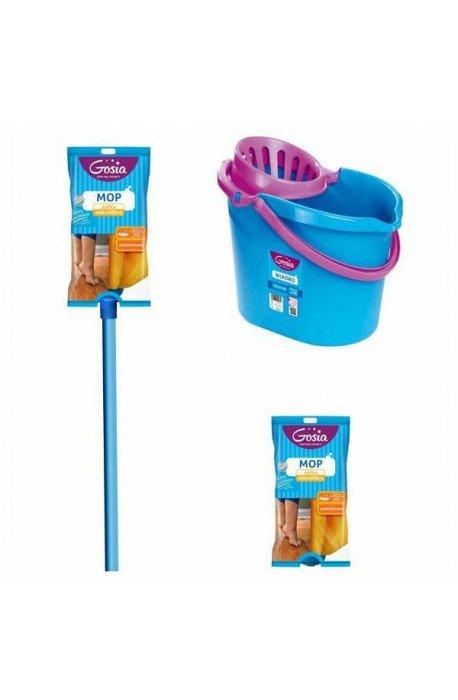 Zestawy sprzątające - Zestaw Wiadro + Mop + Wkład Sukienka Gosia -