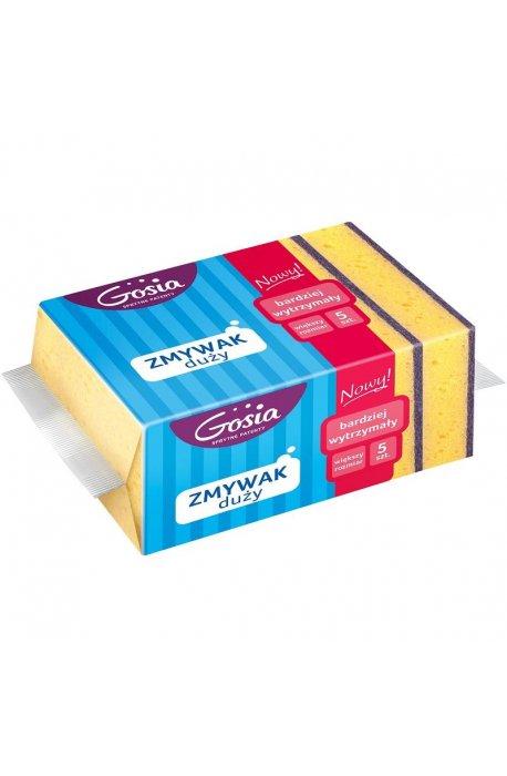 Druciaki, czyściki, zmywaki - Zmywak Duży 5szt żółto fioletowy 5559  Gosia -