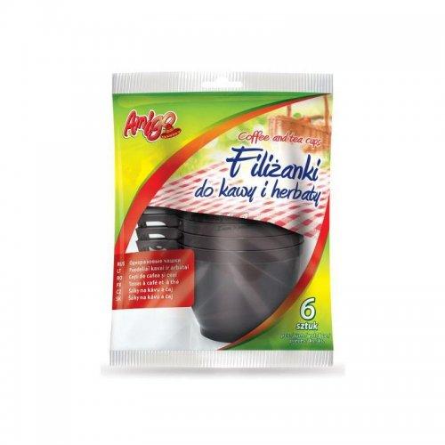 Filiżanki Jednorazowe Do Kawy I Herbaty 6szt 4339 Gosia Amigo