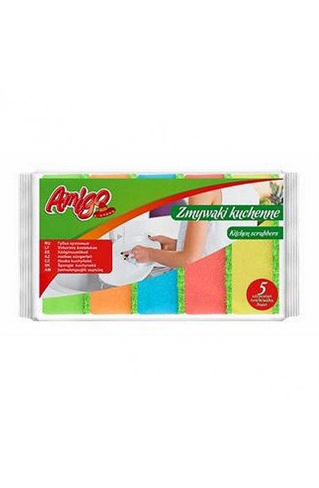Druciaki, czyściki, zmywaki - Zmywak kuchenny 5szt 5962  Gosia Amigo  -