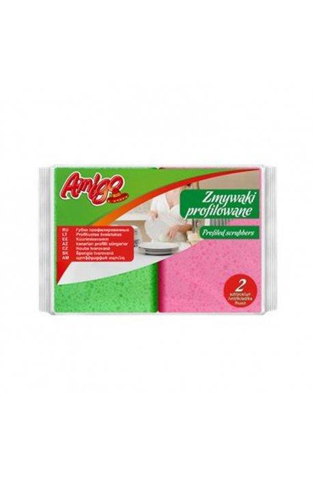 Druciaki, czyściki, zmywaki - Zmywak Profilowany 2szt 5963  Gosia Amigo  -