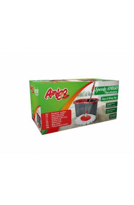 Zestawy sprzątające - Zestaw Speed Mop Obrotowy + Wiadro W Kartonie 6014 Gosia Amigo  -