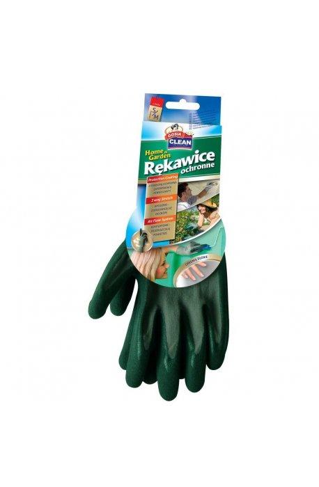 Rękawice - Rękawice Ochronne S/M Zielone Home Garden 2937 Gosia -
