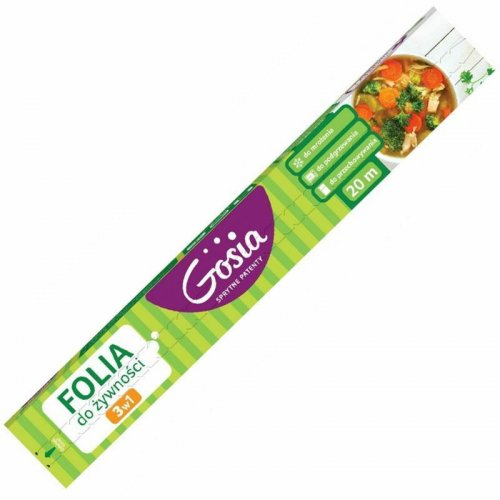 Folia Do Żywności 20m 3w1 Z Nożykiem 6406 Gosia