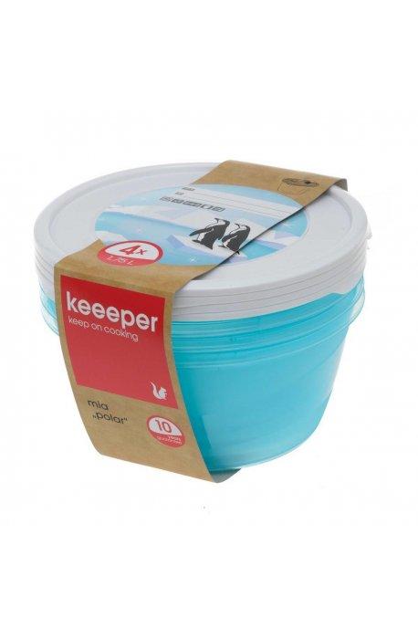 Pojemniki do żywności - Komplet Pojemników Polar Okrągłych 4x1,75l 3069 Keeeper -