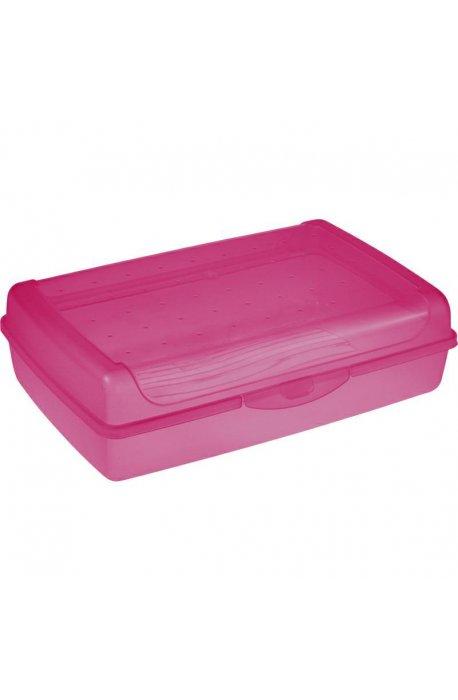 Pojemniki na ciasto - Pojemnik Na Ciasto Click-Box Maxi Różowy 3,7l 1069 Keeeper Luca -