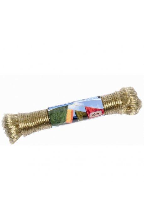 Klamerki, linki, sznury do bielizny - Linka Sznur Stalowa 20m C3991005  Coronet -