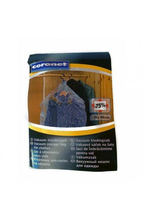 Pokrowce i wieszaki na ubrania - Pokrowiec Próżniowy Vakuum 75X145cm C8797005 Coronet -