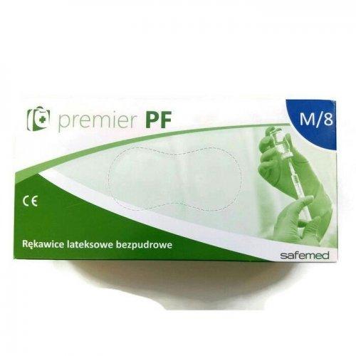 Rękawice lateksowe bezpudrowe Premium M Kolor mleczny 100szt