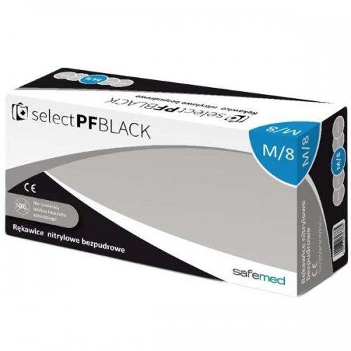Rękawice zabiegowe nitrylowe L czarne Select Pf Black bezpudrowe 100szt