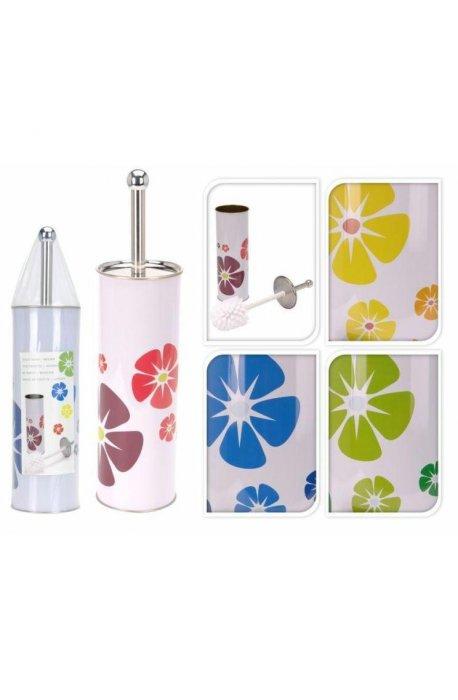 Szczotki i zestawy do WC - Zestaw Do Wc Z Nadrukiem Kolor Kwiatki H -