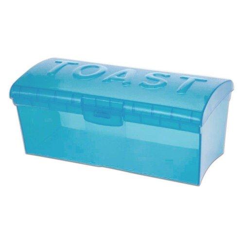 Pojemnik Na Chleb Tostowy Zielony Niebieski Transparentny H