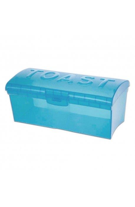 Pojemniki do żywności - Pojemnik Na Chleb Tostowy Zielony Niebieski Transparentny H -
