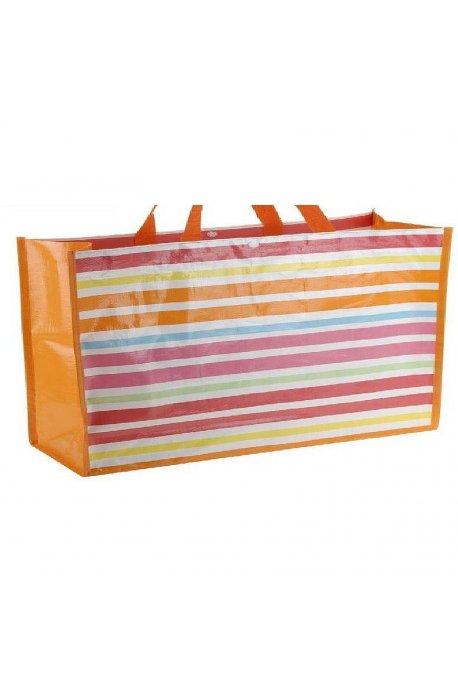 Torby na zakupy i termiczne - Torba Na Zakupy Plażę Kolorowe Paski H  -