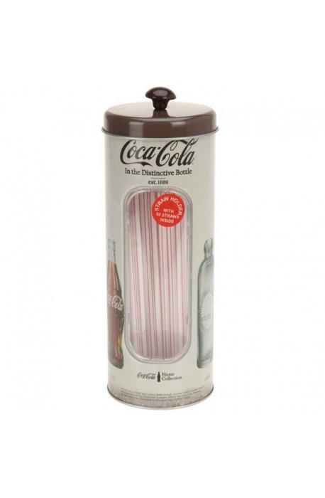 Puszki, koszyki - Puszka Na Słomki Coca-Cola Brązowa H  -