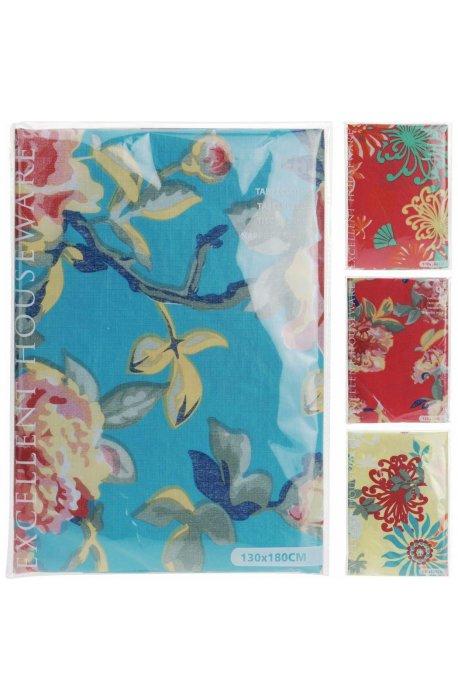 Obrusy papierowe i foliowe - Obrus Flanelowy Róże 4 Kolory 130x180cm H -