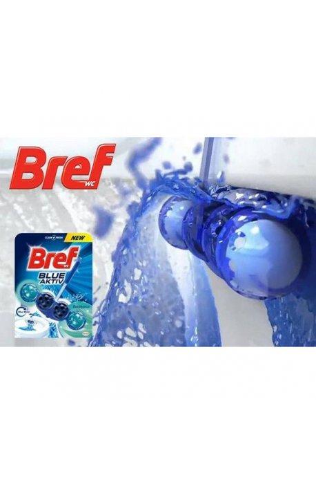 Płyny do WC lub łazienki oraz koszyki zapachowe - Zawieszka Barwiąca Eucalyptus 50g Bref -