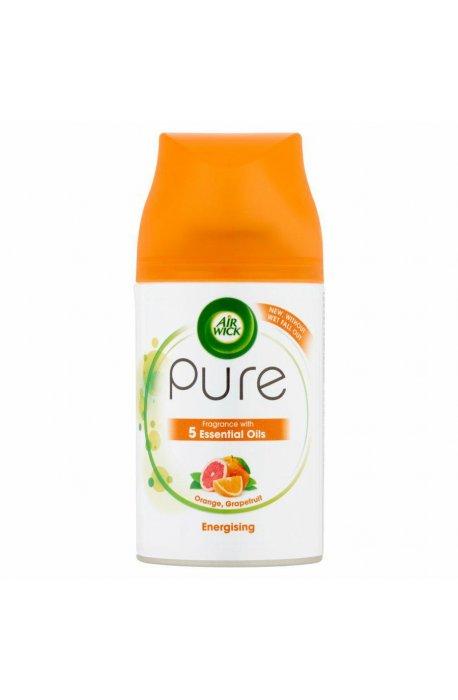 Odświeżacze do powietrza - Odświeżacz Zapas 250ml Pure Energising Orange Grapefruit Air Wick -