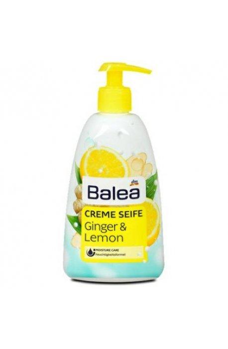Mydła - Mydło Z Pompką 500ml Ginger Lemon Balea -