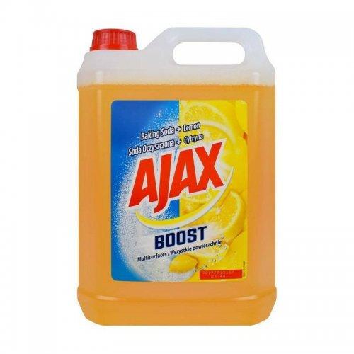 Płyn Uniwersalny 5l Soda+Cytryna Żółty Ajax
