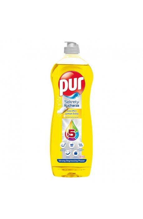 Płyny do naczyń - Płyn Do Mycia Naczyń 750ml Soda Effect Lemon Extra Pur -