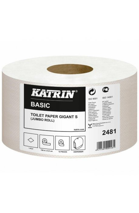 Papiery toaletowe - Papier Toaletowy Basic Gigant S 150m 2481 Katrin -
