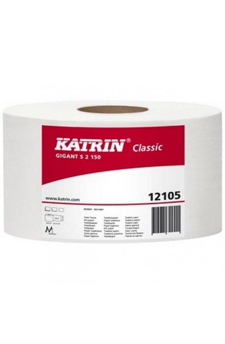 Papiery toaletowe - Papier Toaletowy Gigant S2 130 121050 Biały Katrin -