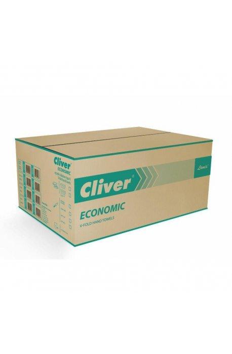 Papiery, ręczniki kuchenne - Ręcznik ZZ Biały 4000 Economic Cliver -