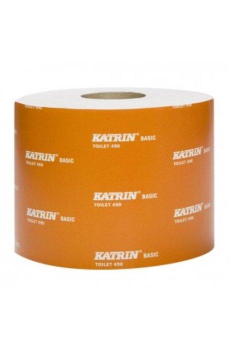 Papiery toaletowe - Papier Toaletowy Basic 490 12540  Katrin -