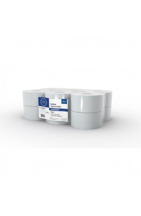 Papiery toaletowe - Papier Toaletowy Jumbo Biały Comfort T130/2 100% Celulozy -
