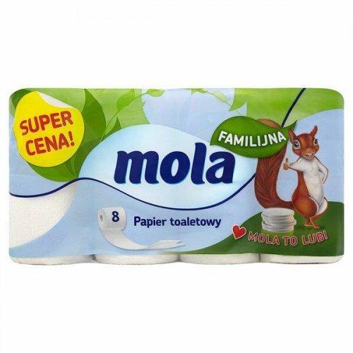 Mola Papier Toaletowy Biały Familijny A8