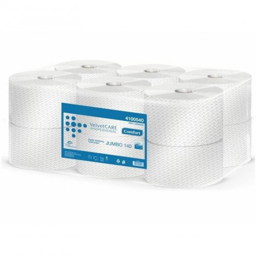 Papier Toaletowy Comfort Biały Jumbo 140m 4100540 Velvet