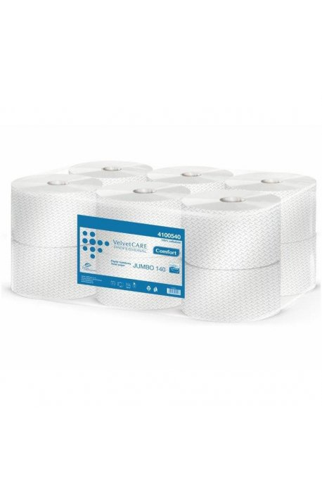 Papiery toaletowe - Papier Toaletowy Comfort Biały Jumbo 140m 4100540 Velvet -