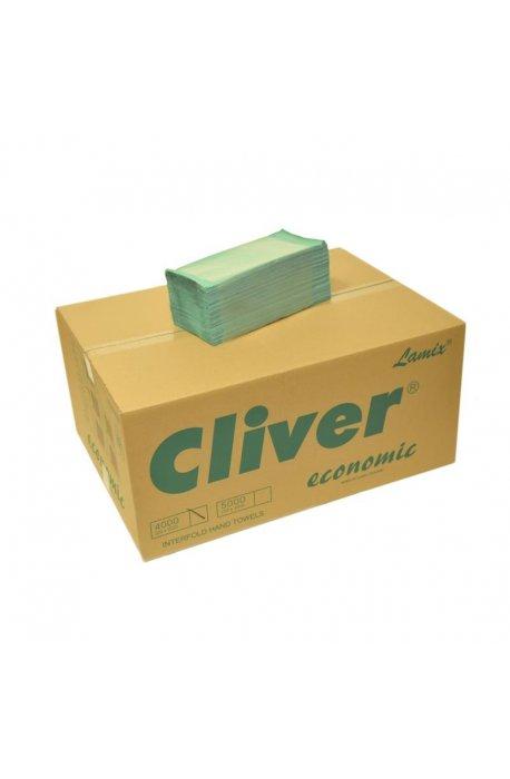 Papiery, ręczniki kuchenne - Ręcznik ZZ Zielony 4000 Economic Cliver -