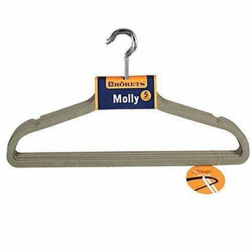 Wieszaki na ubrania Molly 5szt Szary 294302  Rorets