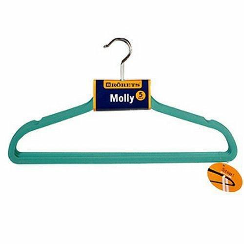 Wieszaki na ubrania Molly 5szt Turkus 294303  Rorets