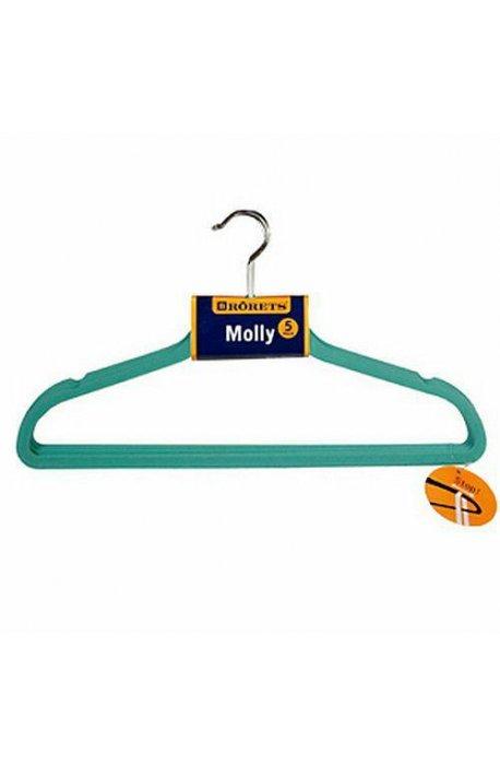 Pokrowce i wieszaki na ubrania - Wieszaki na ubrania Molly 5szt Turkus 294303  Rorets -