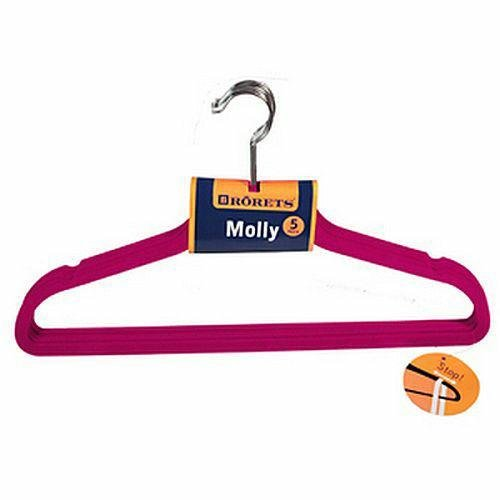 Wieszaki na ubrania Molly 5szt Fuksja 294304  Rorets