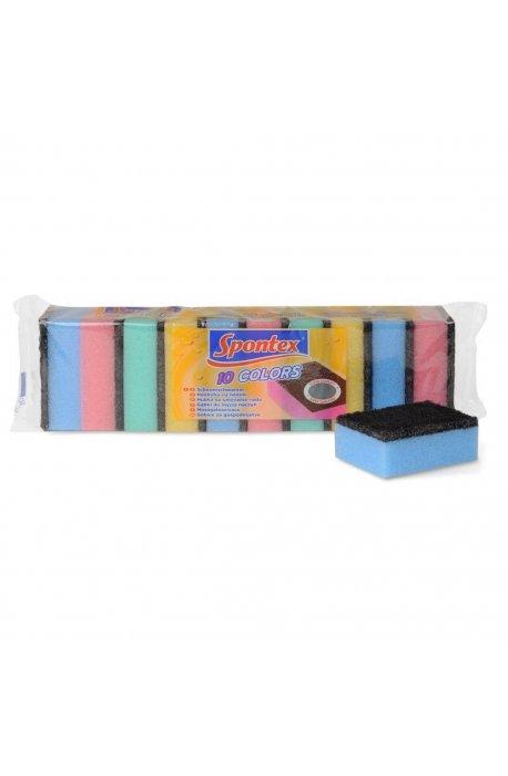 Druciaki, czyściki, zmywaki - Zmywak Kolor 10szt 97070022  Spontex -