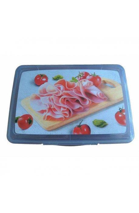 Pojemniki do żywności - Pojemnik Fresco 1l Dzielony Na Ser Wędlinę Elh -