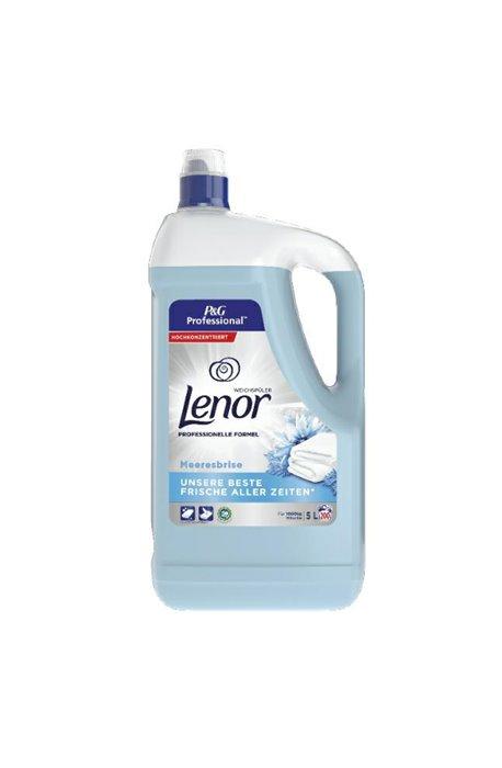 Żele, płyny do prania i płukania - Płyn Do Płukania 5l Niebieski 200 Prań Lenor Spring Procter Gamble -