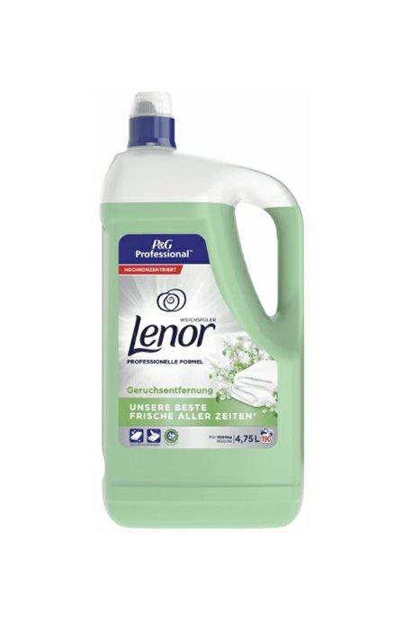 Żele, płyny do prania i płukania - Płyn Do Płukania 4,75l Zielony 190 prań Lenor Odour Eliminator Procter Gamble -