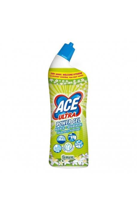 Płyny do WC lub łazienki oraz koszyki zapachowe - Żel Do Wc 750ml Lemon Zielony Procter Gamble Ace Ultra -